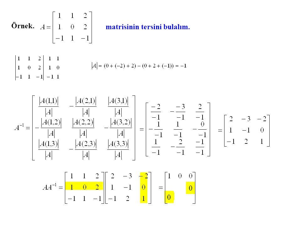 Ters matris için yukarıda bulunanlar doğrusal denklem sistemlerinin çözümüne uygulanınca, Cramer Kuralı olarak bilinen kural elde edilir.