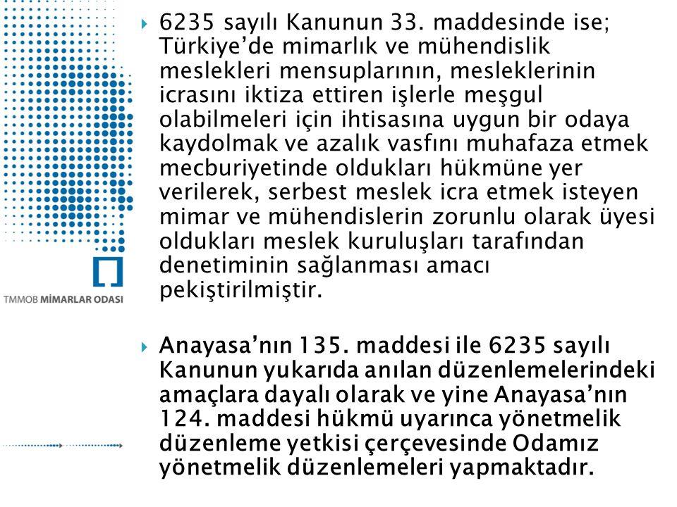 6235 sayılı Kanunun 33.