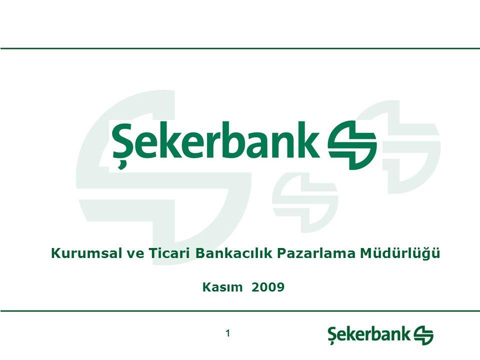 1 Kurumsal ve Ticari Bankacılık Pazarlama Müdürlüğü Kasım 2009