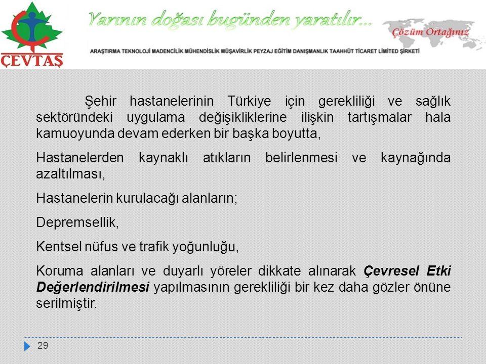 29 Şehir hastanelerinin Türkiye için gerekliliği ve sağlık sektöründeki uygulama değişikliklerine ilişkin tartışmalar hala kamuoyunda devam ederken bi