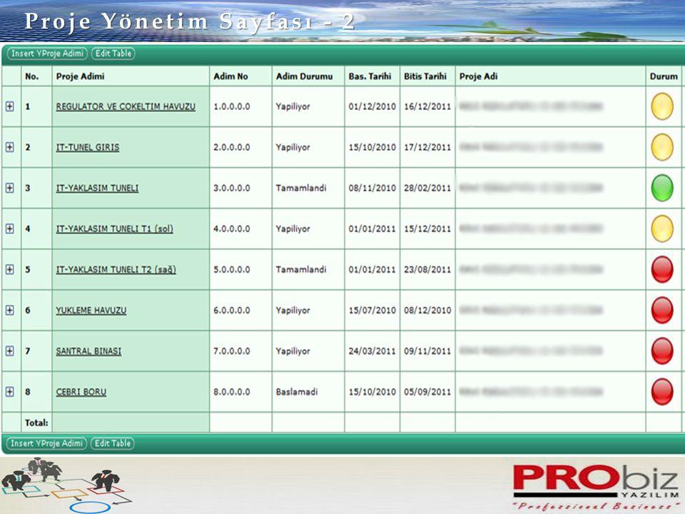 Proje Yönetim Sayfası - 3