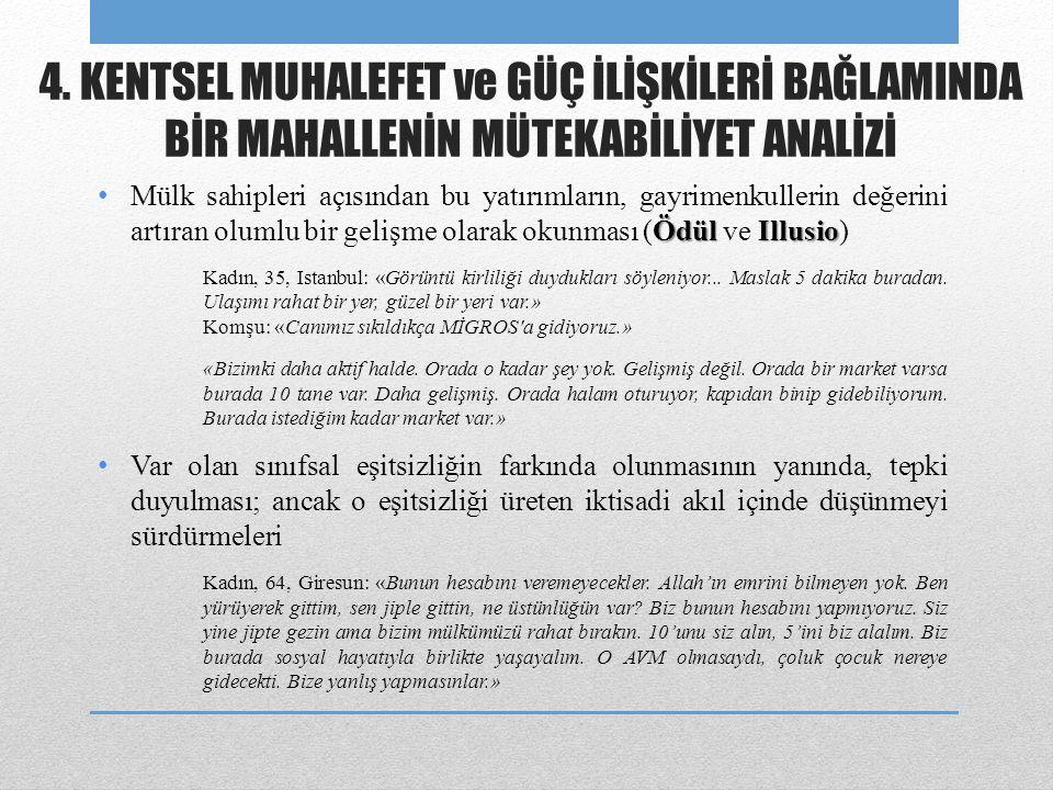 ÖdülIllusio • Mülk sahipleri açısından bu yatırımların, gayrimenkullerin değerini artıran olumlu bir gelişme olarak okunması (Ödül ve Illusio) Kadın, 35, Istanbul: «Görüntü kirliliği duydukları söyleniyor...