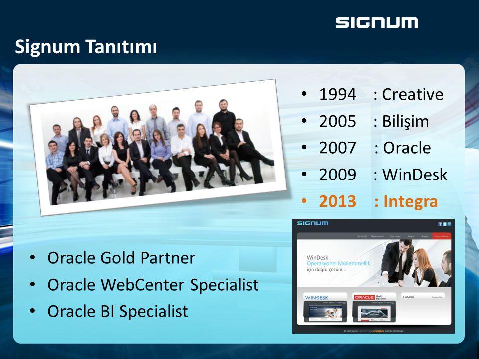 Oracle Orta Katman Ürünleri için İş Uygulama Hizmetleri Kurumsal Operasyonel Süreç Yönetimi için Yazılımlar ÜÇ ANA KONU ÜZERİNE ODAKLANMIŞ ODAKLANMIŞ YAZILIM ÇÖZÜM EVİDİR ÜÇ ANA KONU ÜZERİNE ODAKLANMIŞ ODAKLANMIŞ YAZILIM ÇÖZÜM EVİDİR ORACLE Hizmetleri ORACLE Hizmetleri CREATIVE Tasarım Hizmetleri CREATIVE Tasarım Hizmetleri WINDESK Ürünleri WINDESK Ürünleri Ürün/Hizmet Portföyümüz Görsel basılı medya, ara yüz, portal, web, prodüksiyon tasarım ve uygulama hizmetleri