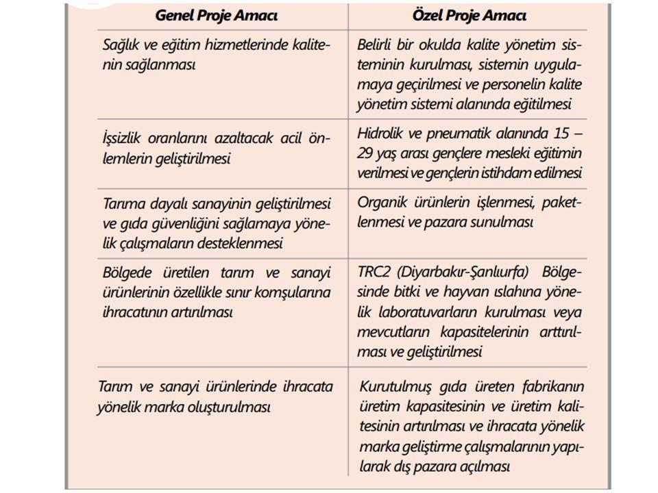 Genel amaç : TRC2 (Diyarbakır ve Şanlıurfa) bölgesinin ekonomik potansiyelini en iyi şekilde değerlendirip işsizliğin, yoksulluğun ve gelir dağılımındaki eşitsizliğin azaltılarak Bölgenin Türkiye'nin Ortadoğu'ya açılan kapısı haline gelmesine katkıda bulunmaktır