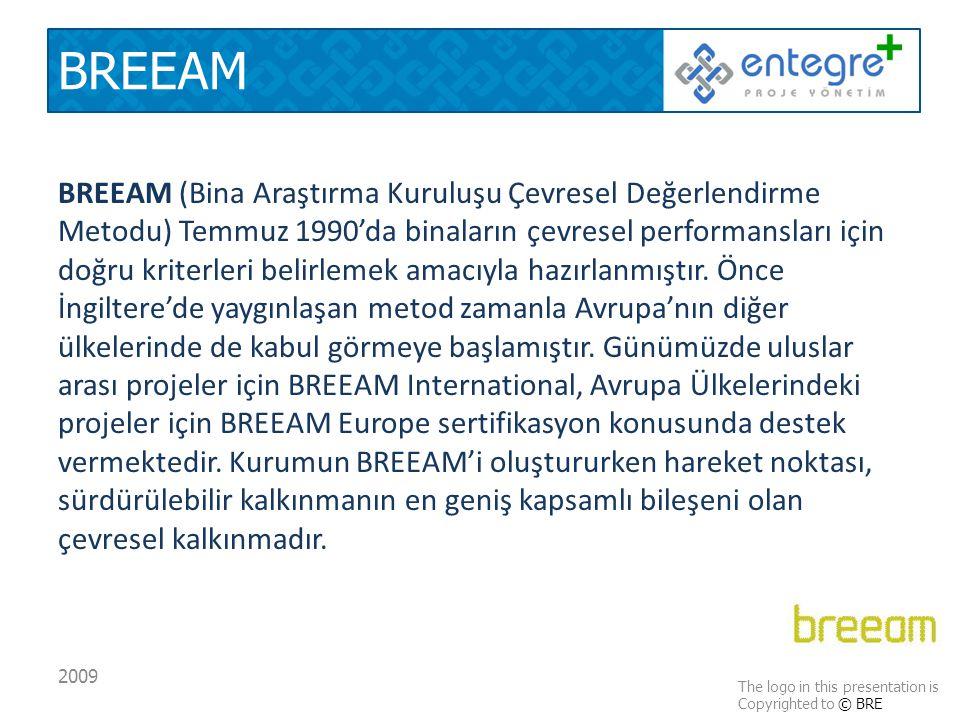 BREEAM BREEAM (Bina Araştırma Kuruluşu Çevresel Değerlendirme Metodu) Temmuz 1990'da binaların çevresel performansları için doğru kriterleri belirlemek amacıyla hazırlanmıştır.