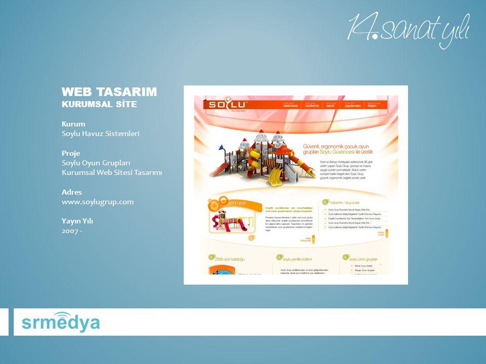 WEB TASARIM KURUMSAL SİTE Kurum Soylu Havuz Sistemleri Proje Soylu Oyun Grupları Kurumsal Web Sitesi Tasarımı Adres www.soylugrup.com Yayın Yılı 2007