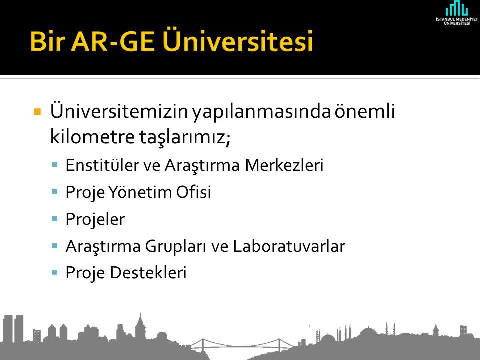  Üniversitemizin yapılanmasında önemli kilometre taşlarımız;  Enstitüler ve Araştırma Merkezleri  Proje Yönetim Ofisi  Projeler  Araştırma Grupları ve Laboratuvarlar  Proje Destekleri