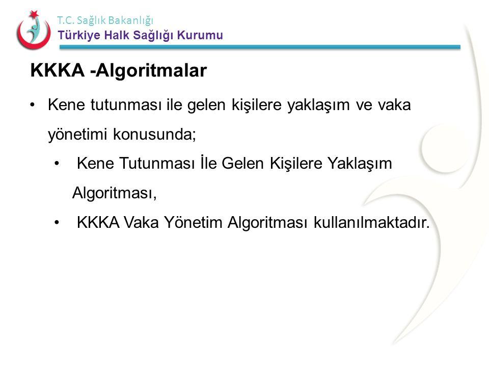 T.C. Sağlık Bakanlığı Türkiye Halk Sağlığı Kurumu KKKA -Algoritmalar •Kene tutunması ile gelen kişilere yaklaşım ve vaka yönetimi konusunda; • Kene Tu