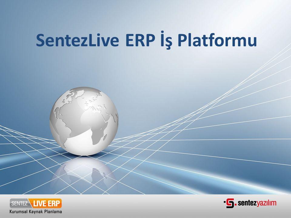 1.ERP Kavramı 2.SentezLIVE ERP Genel Bakış 3.SentezLIVE ERP Platformu 4.SentezLIVE ERP Modülleri
