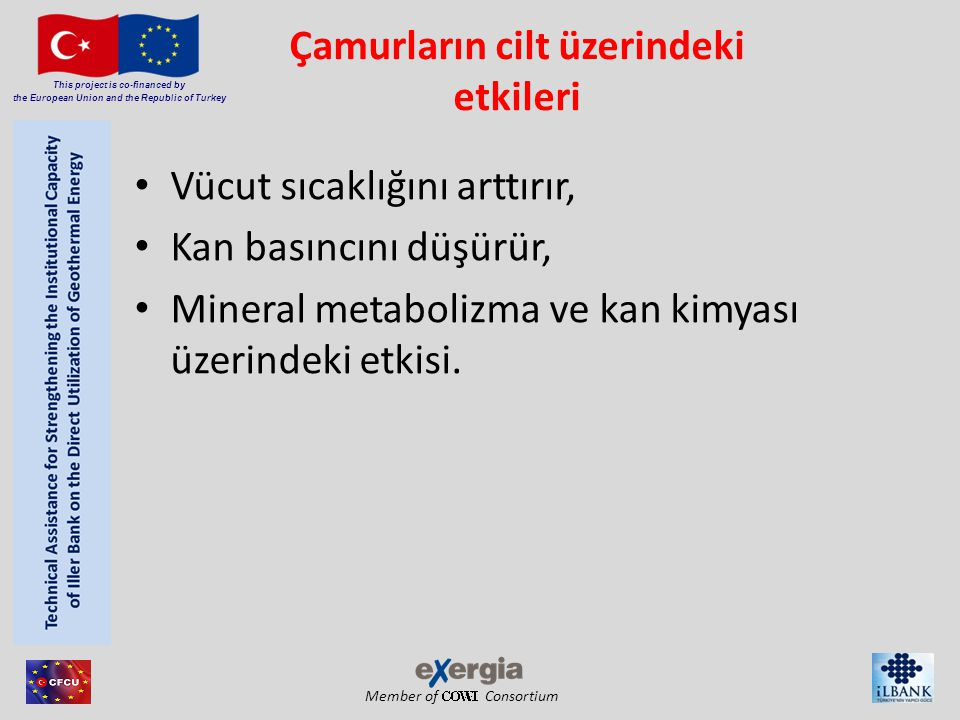 Member of Consortium This project is co-financed by the European Union and the Republic of Turkey Çamurların cilt üzerindeki etkileri • Vücut sıcaklığ