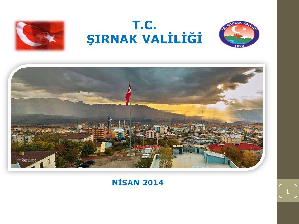1 T.C. ŞIRNAK VALİLİĞİ NİSAN 2014