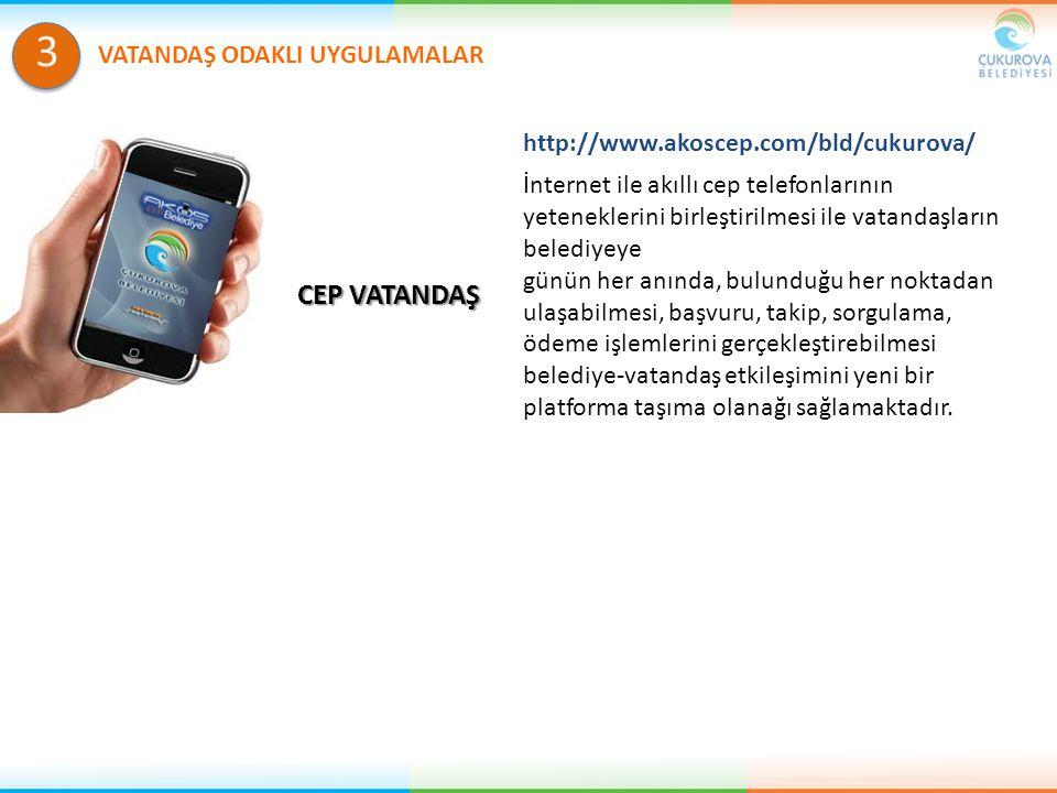 CEP VATANDAŞ İnternet ile akıllı cep telefonlarının yeteneklerini birleştirilmesi ile vatandaşların belediyeye günün her anında, bulunduğu her noktada