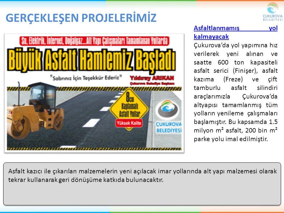 Asfaltlanmamış yol kalmayacak Çukurova'da yol yapımına hız verilerek yeni alınan ve saatte 600 ton kapasiteli asfalt serici (Finişer), asfalt kazıma (