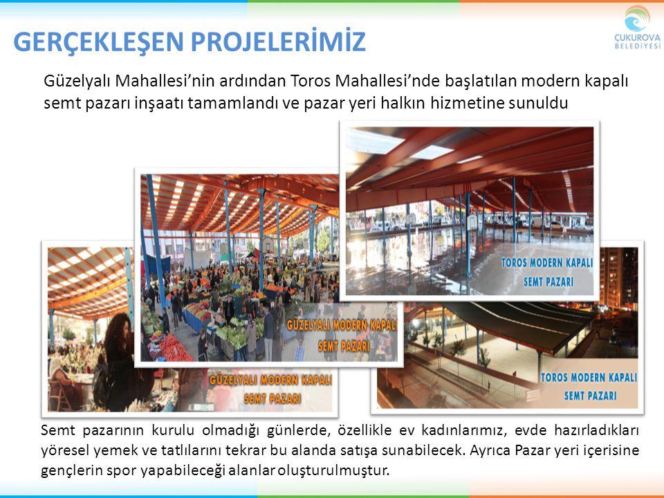 Güzelyalı Mahallesi'nin ardından Toros Mahallesi'nde başlatılan modern kapalı semt pazarı inşaatı tamamlandı ve pazar yeri halkın hizmetine sunuldu Se
