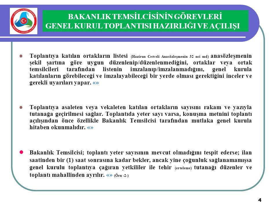 4 4  Toplantıya katılan ortakların listesi (Hazirun Cetveli Anasözleşmenin 32 nci md) anasözleşmenin şekil şartına göre uygun düzenlenip/düzenlenmedi