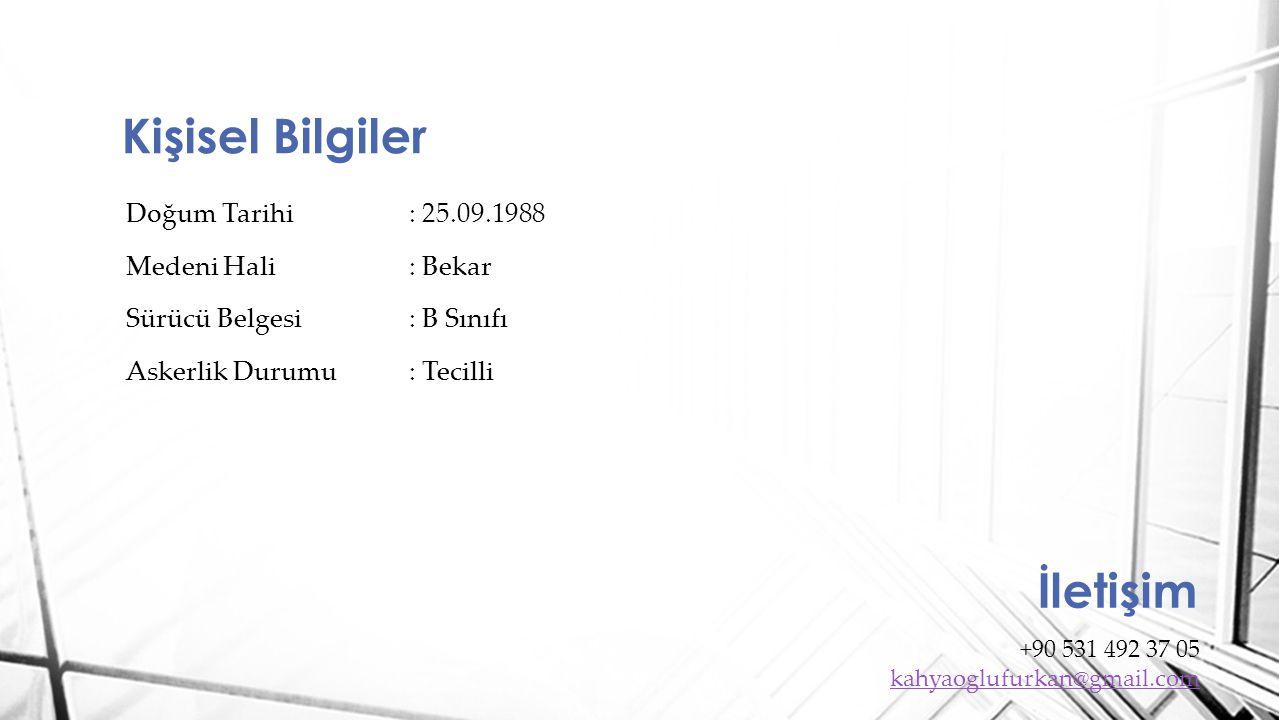 Maltepe Üniversitesi Mimarlık Fakültesi - İç Mimarlık 2008 - Halen Pendik Lisesi Türkçe - Matematik 2002 -2006 Eğitim Bilgileri