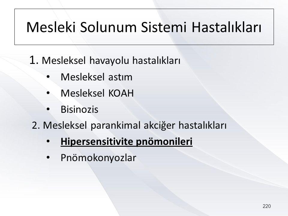 Mesleki Solunum Sistemi Hastalıkları 1.