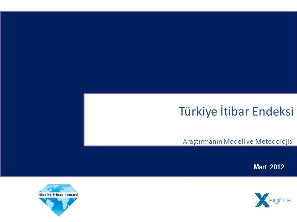 Türkiye İtibar Endeksi Araştırmanın Modeli ve Metodolojisi Mart 2012