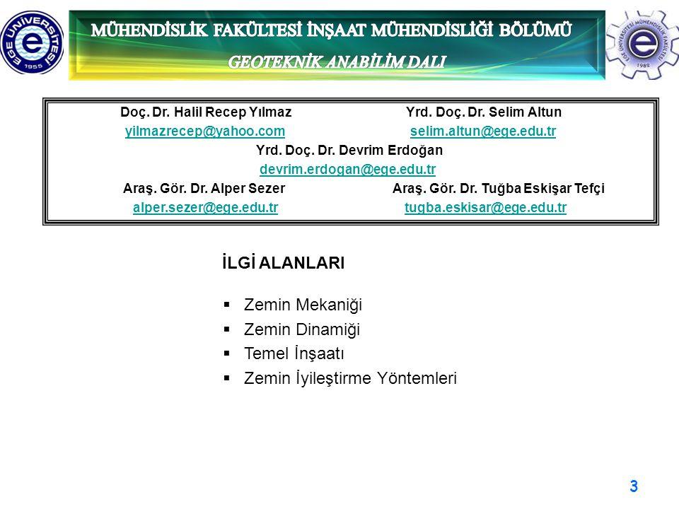 3 Doç. Dr. Halil Recep Yılmaz Yrd. Doç. Dr. Selim Altun yilmazrecep@yahoo.com selim.altun@ege.edu.tryilmazrecep@yahoo.comselim.altun@ege.edu.tr Yrd. D