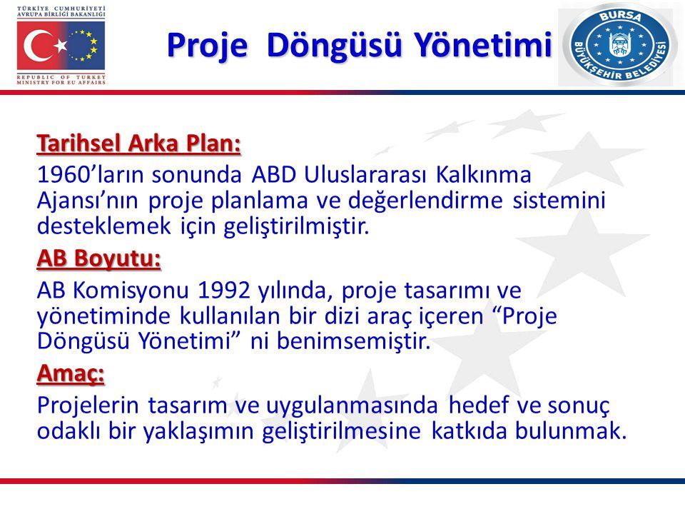 Proje Uygulama Başkanlığı AB'de Proje Döngüsü Yönetimi AVRUPA BİRLİĞİ BAKANLIĞI PMBoK Proje Döngüsü Yönetimi Uluslararası Proje Döngüsü Örnekleri