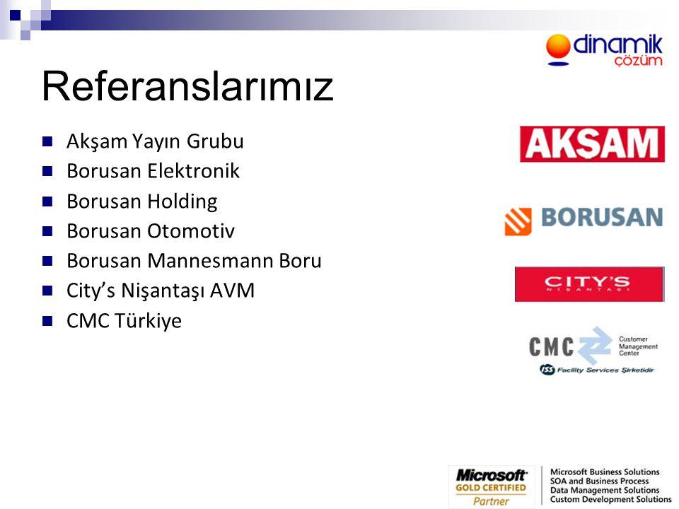 Referanslarımız  Akşam Yayın Grubu  Borusan Elektronik  Borusan Holding  Borusan Otomotiv  Borusan Mannesmann Boru  City's Nişantaşı AVM  CMC T