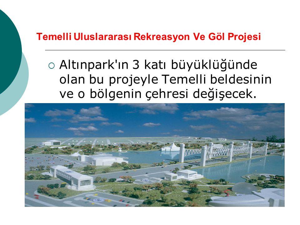  Altınpark'ın 3 katı büyüklüğünde olan bu projeyle Temelli beldesinin ve o bölgenin çehresi değişecek.