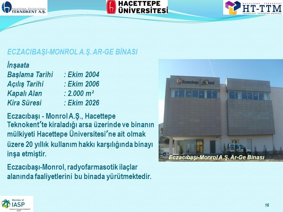 16 Eczacıbaşı-Monrol A.Ş.Ar-Ge Binası ECZACIBAŞI-MONROL A.Ş.