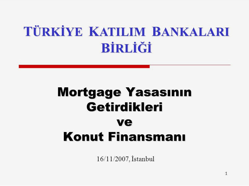 1 Mortgage Yasasının Getirdikleri ve Konut Finansmanı Mortgage Yasasının Getirdikleri ve Konut Finansmanı 16/11/2007, İstanbul T ÜRKİYE K ATILIM B ANK