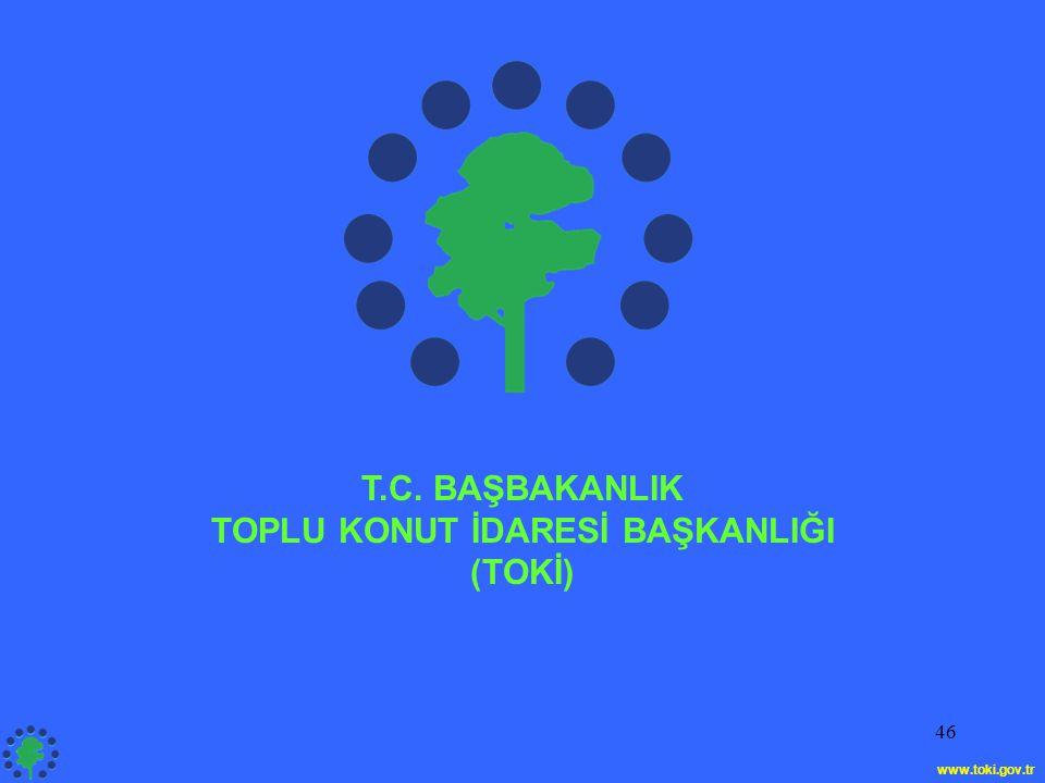 46 T.C. BAŞBAKANLIK TOPLU KONUT İDARESİ BAŞKANLIĞI (TOKİ) www.toki.gov.tr