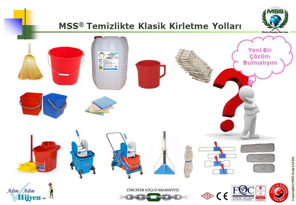 ZİNCİRİN GÜÇLÜ HALKASIYIZ Copyright©MSS Grup Ltd Şti. MSS ® Temizlikte Klasik Kirletme Yolları Yeni Bir Çözüm Bulmalıyım