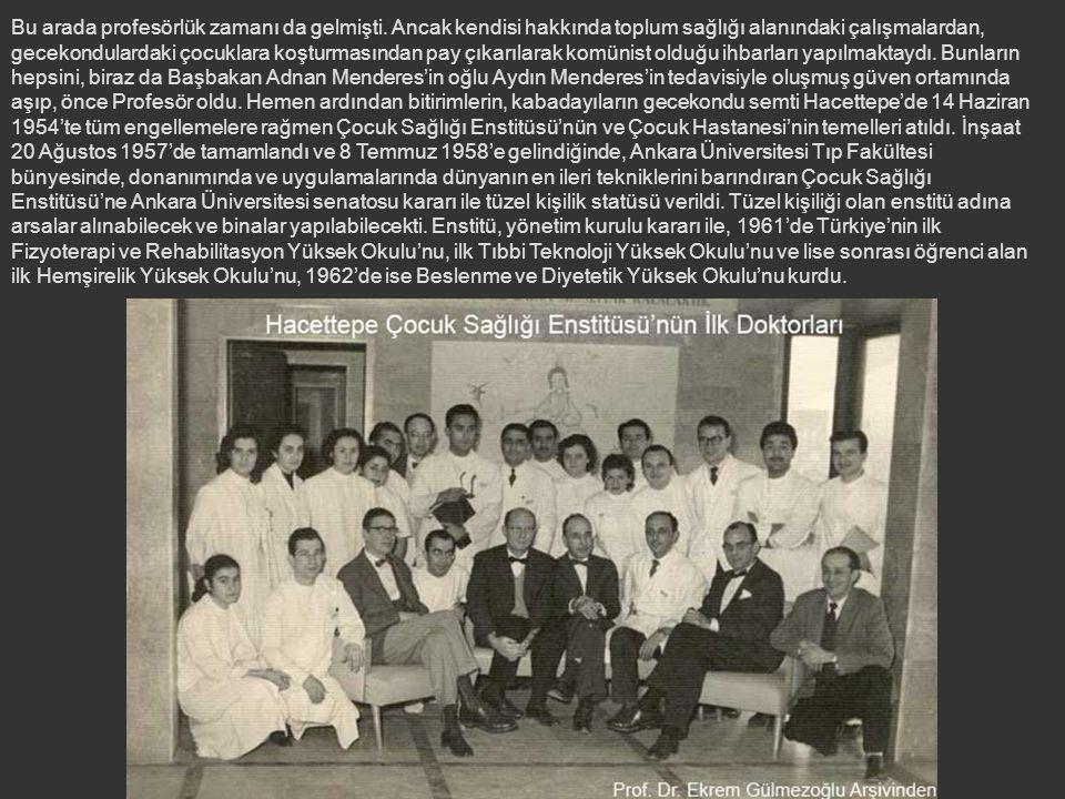 Prof. Dr. Eckstein 1949'da Almanya'ya döndüğü zaman, kıdem sırasına göre 1946'da doçent olmuş Dr. Bahtiyar Demirağ, henüz Cebeci'ye taşınmamış, Numune