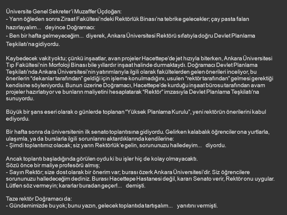 UNUTULMAZ BİR REKTÖRLÜK SEÇİMİ Durup dururken son anda Ankara Üniversitesi Rektörlüğü'ne aday olmuştu; seçim Dil ve Tarih-Coğrafya Fakültesi – Farabi