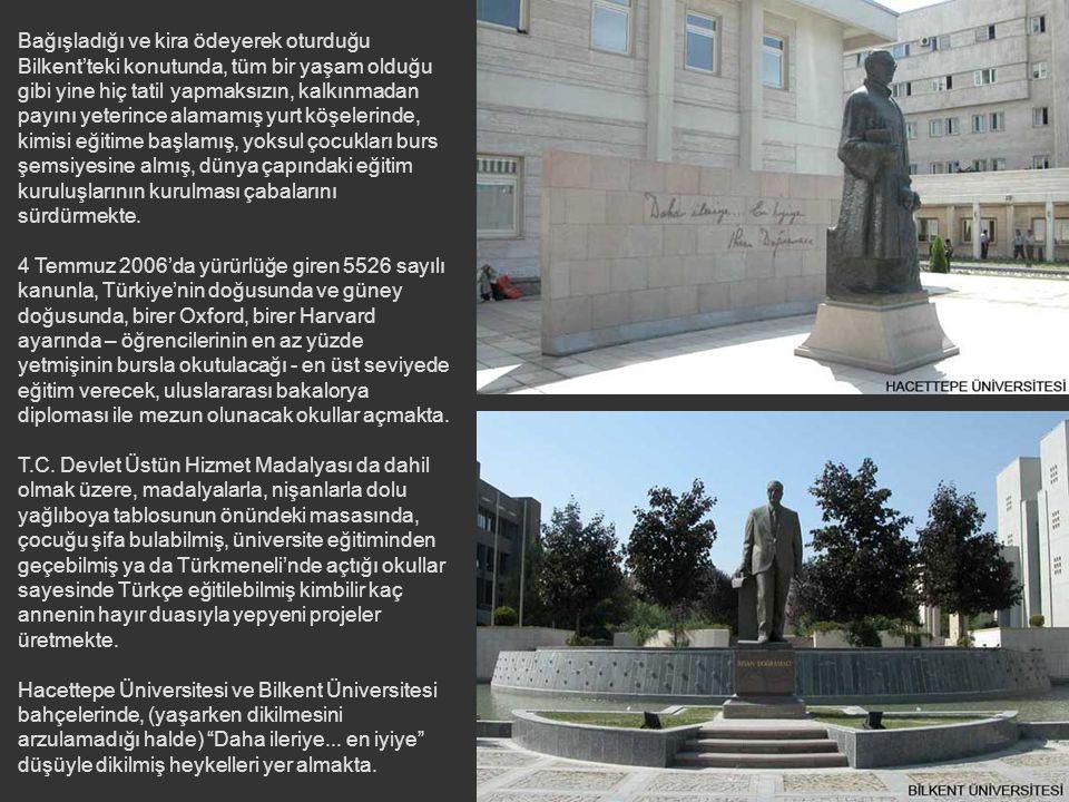 1985'ten günümüze Bilkent Üniversitesi Mütevelli Heyeti Başkanı olan eğitim çınarı, sayısallaşmış bir dünyada UNICEF'in merasim salonunda iki dönem ba