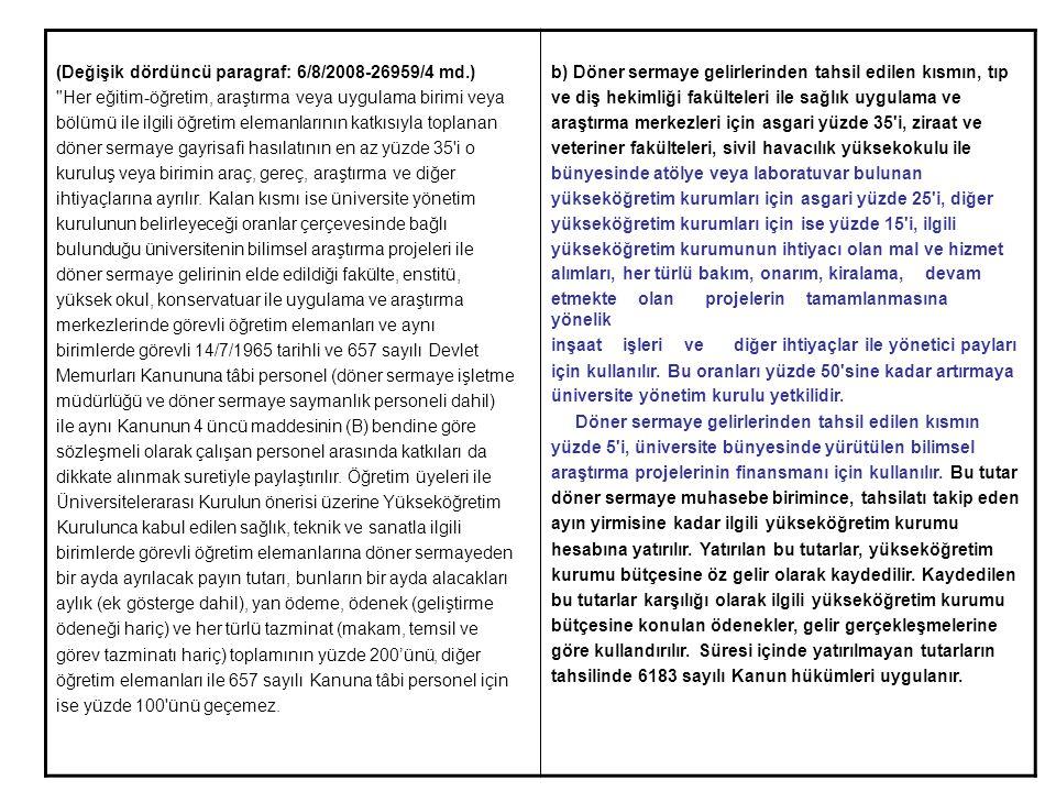 (Değişik dördüncü paragraf: 6/8/2008-26959/4 md.)