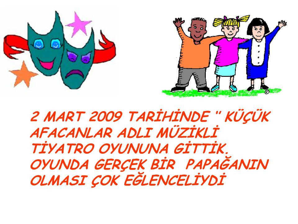5 MART 2009 TARİHİNDE 5 YAŞ SINIFIMIZDAKİ ATA 'NIN BABASI DOKTOR SEZAİ BEY BİZİ ZİYARETE GELDİ.