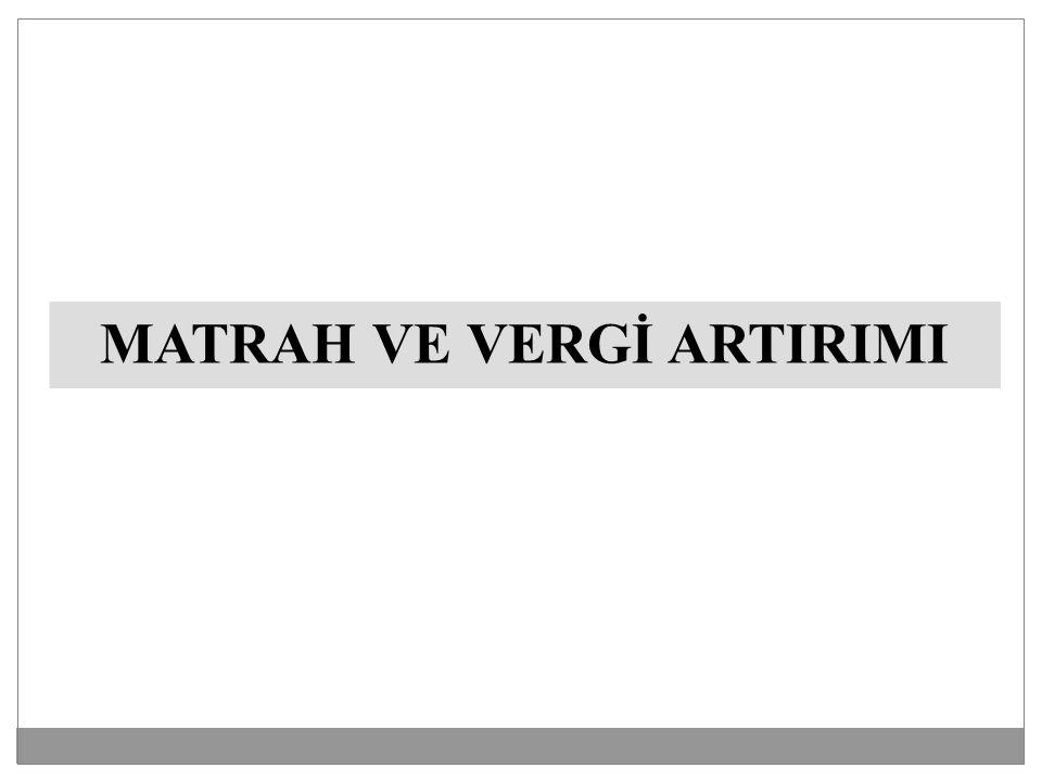 MATRAH VE VERGİ ARTIRIMI