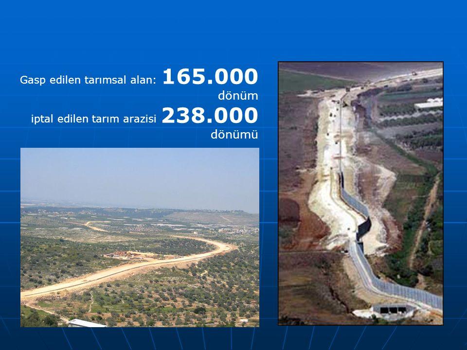 Gasp edilen tarımsal alan: 165.000 dönüm iptal edilen tarım arazisi 238.000 dönümü