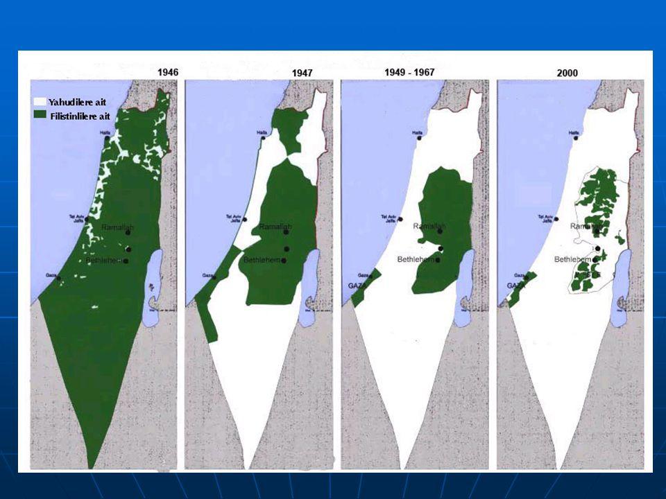 Filistin nüfusu  Batı Şeria ve Gazze 3.900.000  Ürdün 1.835.000  İsrail 1.318.000  Suriye 434.800  Lübnan 405.400  Şili 300.000  Amerika 225.000  Mısır 44.000  Körfez ülkeleri 159.000  Diğer Arap ülkeleri 153.000  Diğer ülkeler 308.000  Toplam 9.500.000