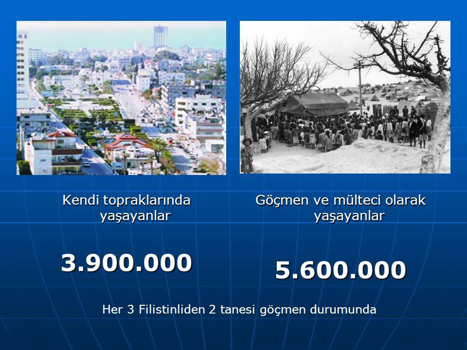 5 1920-30 Filistinli göçleri Yahudi teröristler yüzünden 700.000 Filistinli köylü bölgeyi terk ediyor.