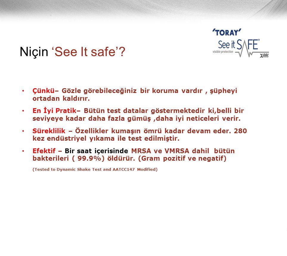 Niçin 'See It safe'? • Çünkü– Gözle görebileceğiniz bir koruma vardır, şüpheyi ortadan kaldırır. • En İyi Pratik– Bütün test datalar göstermektedir ki