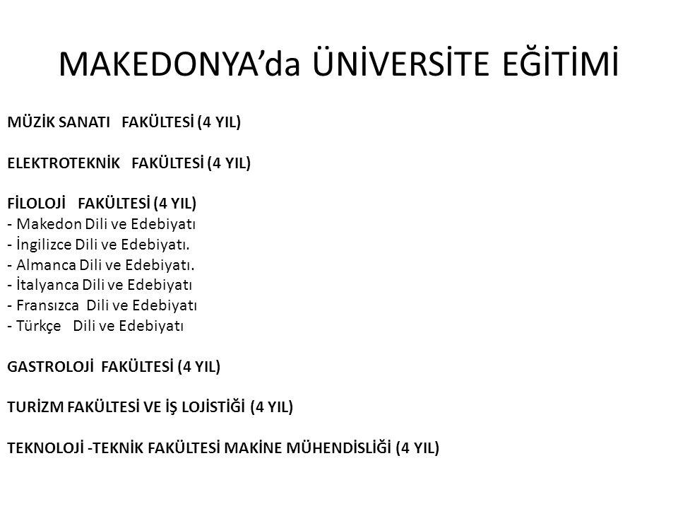 MAKEDONYA'da ÜNİVERSİTE EĞİTİMİ MÜZİK SANATI FAKÜLTESİ (4 YIL) ELEKTROTEKNİK FAKÜLTESİ (4 YIL) FİLOLOJİ FAKÜLTESİ (4 YIL) - Makedon Dili ve Edebiyatı