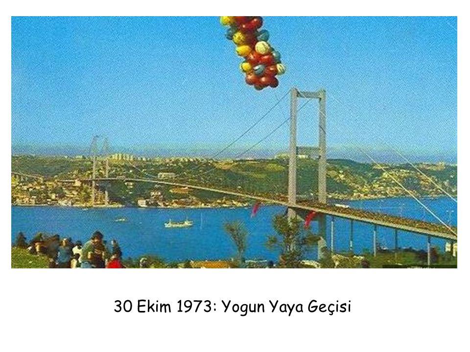 30 Ekim 1973: Yogun Yaya Geçisi