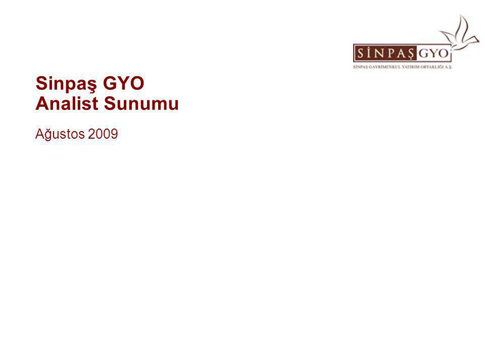 Sinpaş GYO Analist Sunumu Ağustos 2009