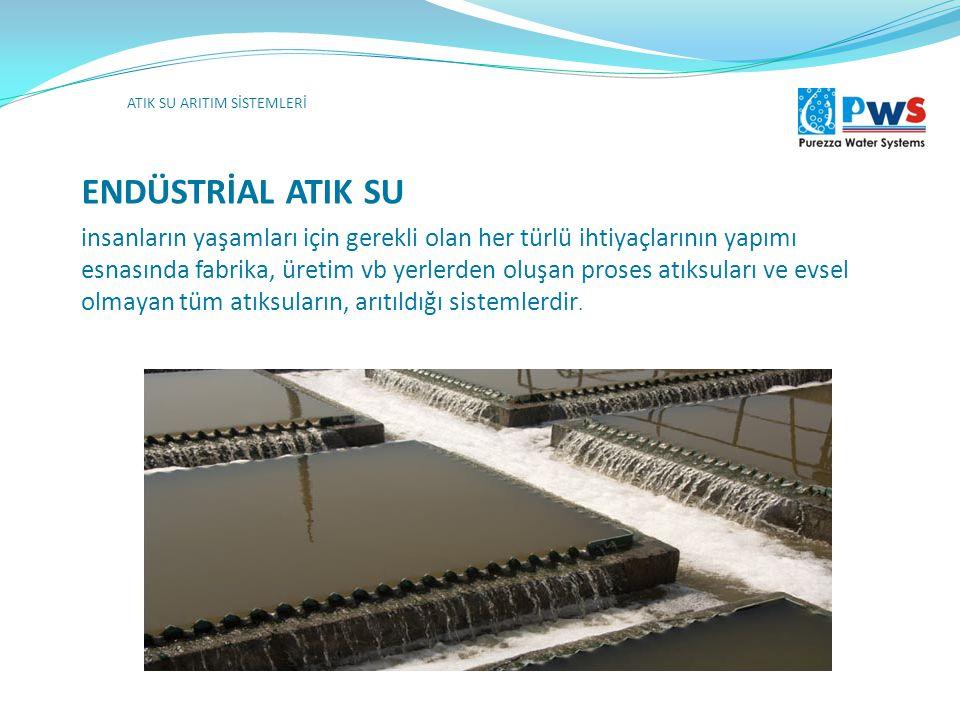ENDÜSTRİAL ATIK SU ATIK SU ARITIM SİSTEMLERİ İçme ve kullanma suyu deposu Yangın suyu deposu insanların yaşamları için gerekli olan her türlü ihtiyaçl