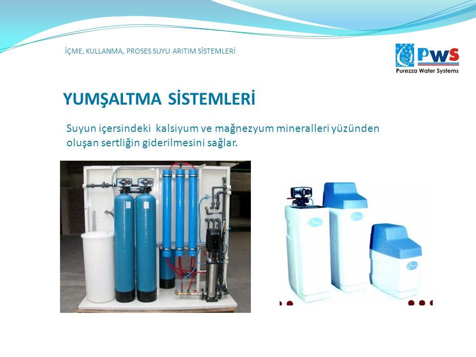 DEZİNFEKSYON KLOR İÇME, KULLANMA, PROSES SUYU ARITIM SİSTEMLERİ Tam otomatik veya manuel cihazlarla sıvı veya gaz olarak suya belirli bir doz ile klor karıştırılarak yapılan dezenfeksiyon sistemleridir.