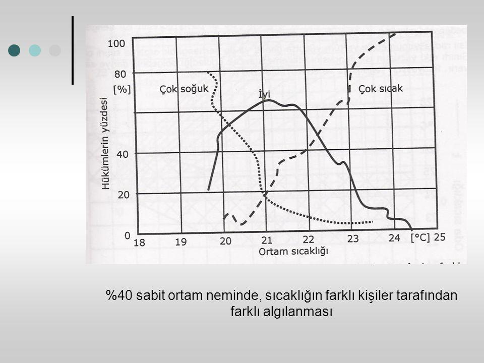 %40 sabit ortam neminde, sıcaklığın farklı kişiler tarafından farklı algılanması