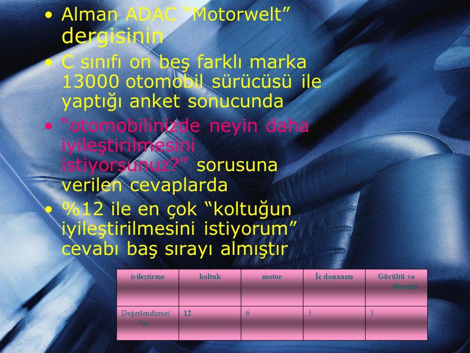 NEDEN KLİMALI OTOMOBİL SÜRÜCÜ KOLTUĞU ? •Otomobilin genel kliması kişinin sırtına etki etmez ve vücutta sıcaklık farkı oluşur. •Çok sıcak yaz günlerin