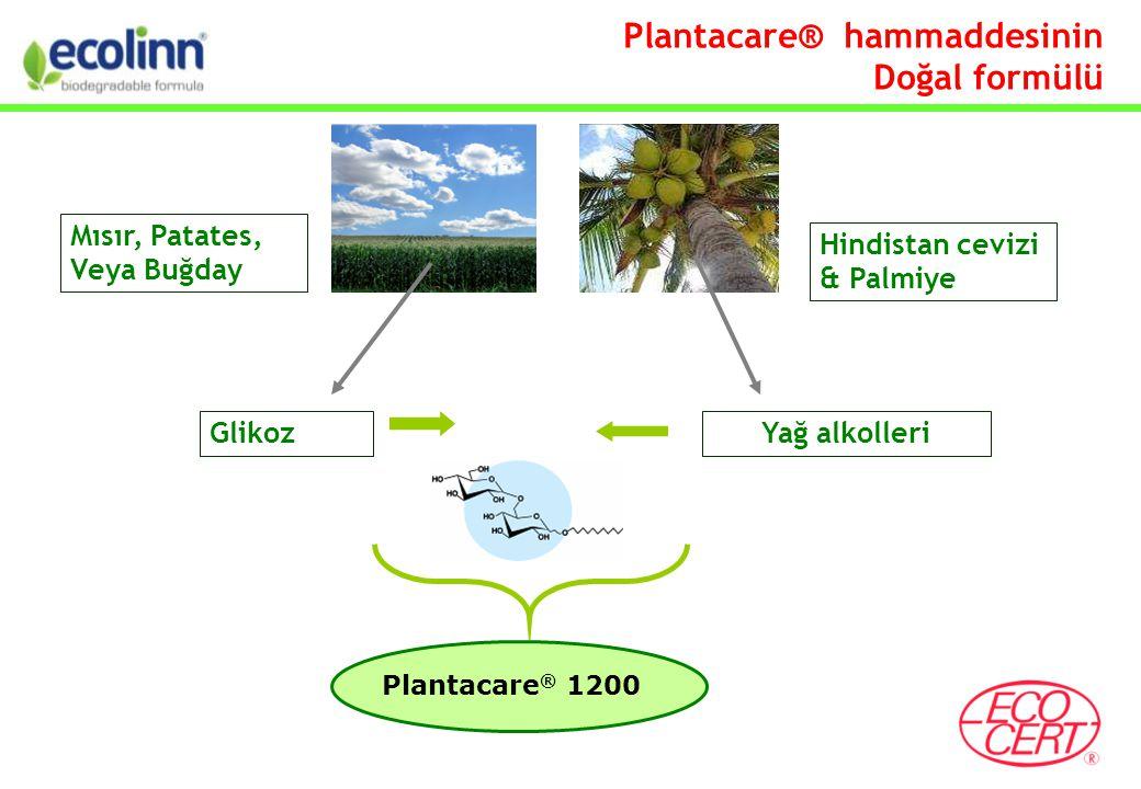 GlikozYağ alkolleri Hindistan cevizi & Palmiye Plantacare ® 1200 Mısır, Patates, Veya Buğday Plantacare® hammaddesinin Doğal formülü