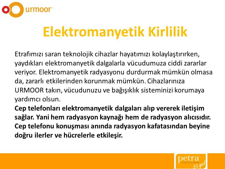 Urmoor, cep telefonu anteninden yayılan ve yüzde 60 ı kafatasımız ve beynimiz tarafından emilen elektromanyetik dalgaları başımızdan uzağa yönlendirerek koruma sağlar.