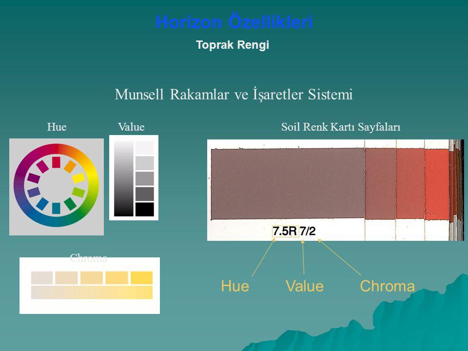 Chroma Toprak Rengi Munsell Rakamlar ve İşaretler Sistemi HueValue HueValueChroma Soil Renk Kartı Sayfaları Horizon Özellikleri